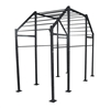 Jfit Burly Free-Standing Commercial Training Rack, 14 x 12-Feet, Black