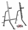 Xmark Adjustable Squat Rack with Plate Storage