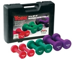 YORK 20 lb Neoprene Dumbbell Set