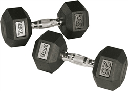YORK Rubber Hex Dumbells