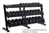 York 3 Tier Tray Dumbell Rack 15 pair