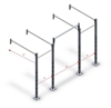 jfit Fornido Wall Mounted Training Rack, Black